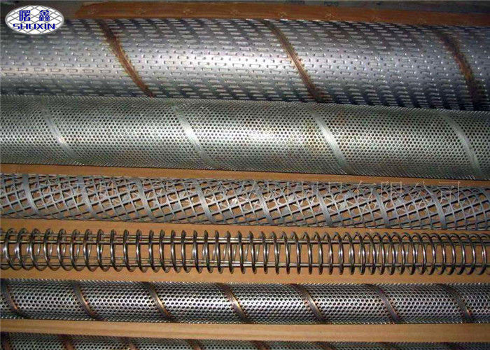 Seamless Perforated Filter Tube Used As Filter Cylinders / Supporting Layer