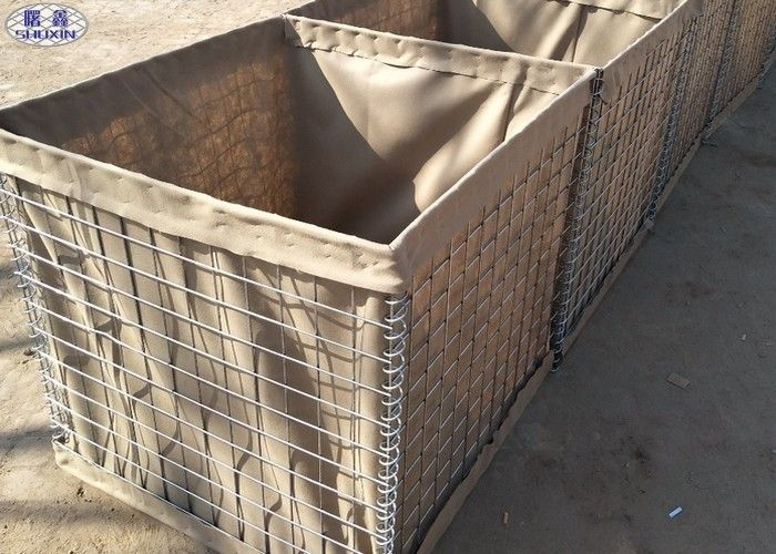 Hot Dipped Galvanized Military Sand Wall Hesco Defense Barrier