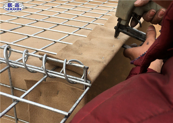 Military Hesco Barrier Welded Gabion Box For Military Shooting Range